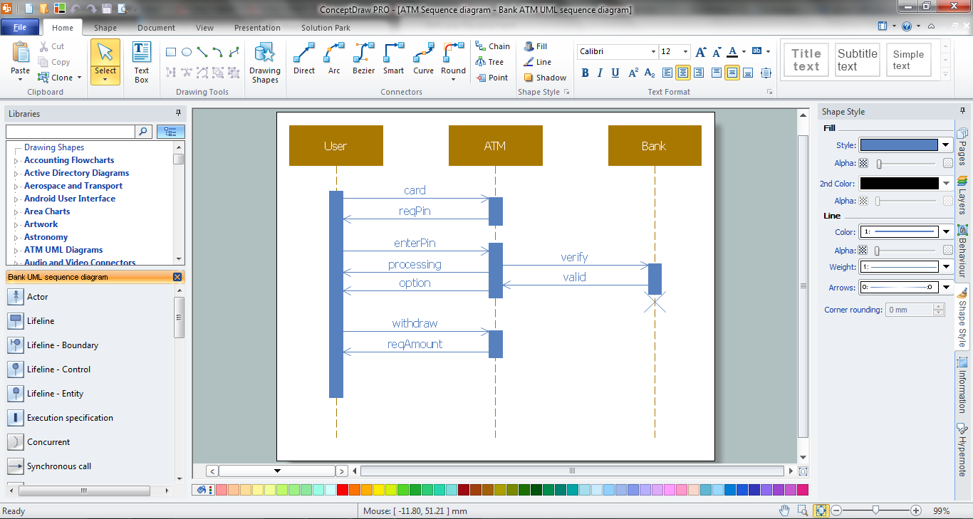 Bank sequence diagram atm uml diagrams how to create a bank atm bank sequence diagram ccuart Choice Image
