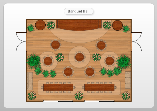 Banquet Hall Floor Plan Example