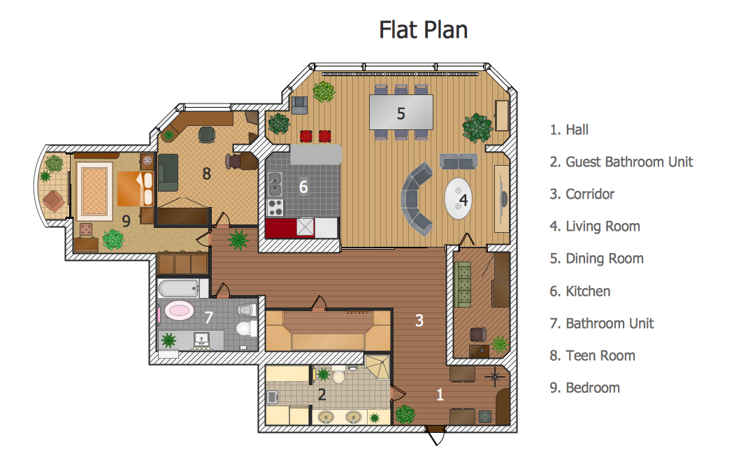 Sample house layout
