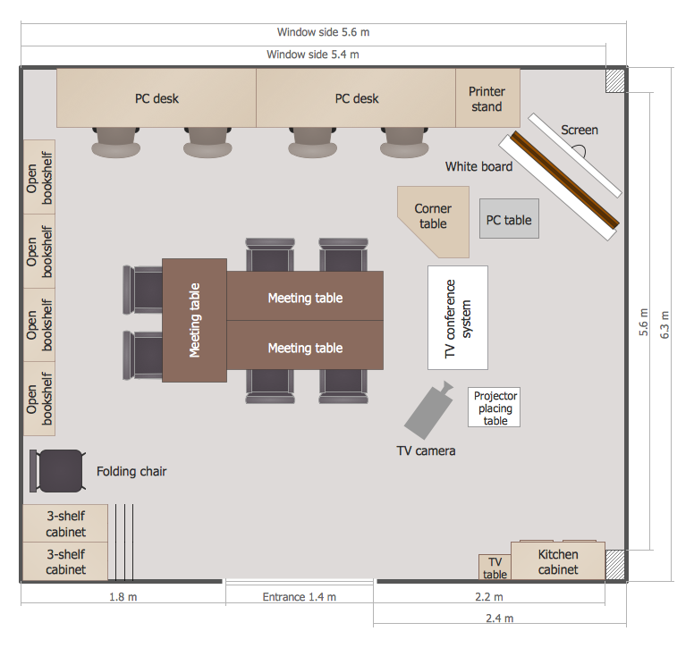 School floor plans for Blueprint drawing program