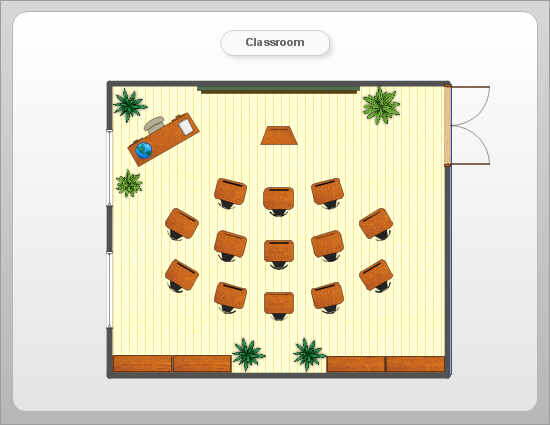 Room planning with ConceptDraw.  Classroom plan.