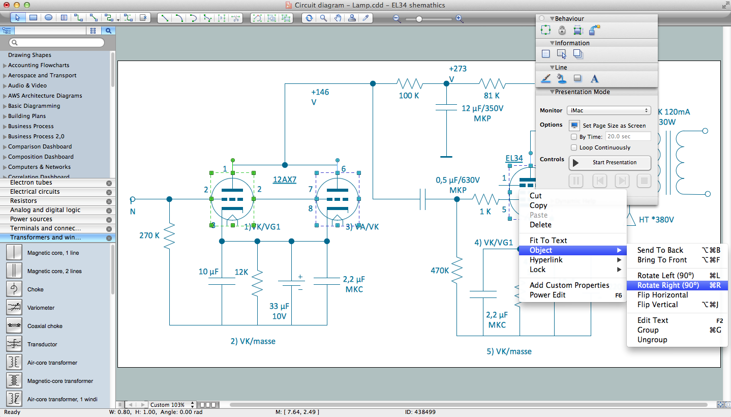 Circuits and Logic Diagram Software for Macintosh OS X and Windows