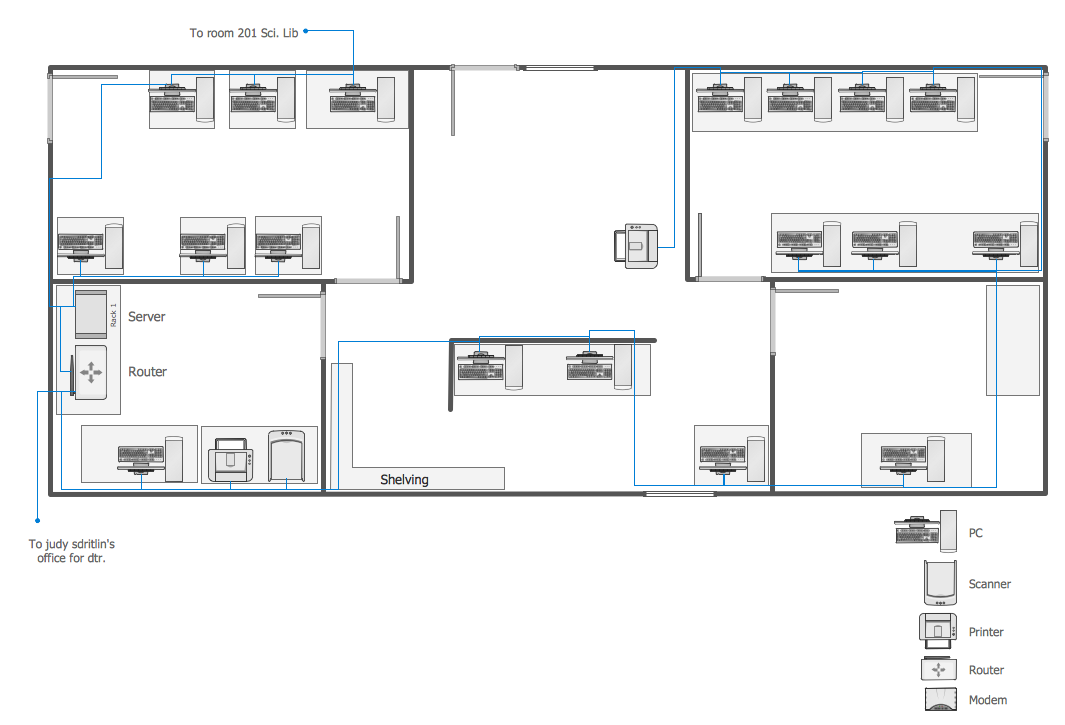 Network Layout Floor Plans | How to Create a Network ...