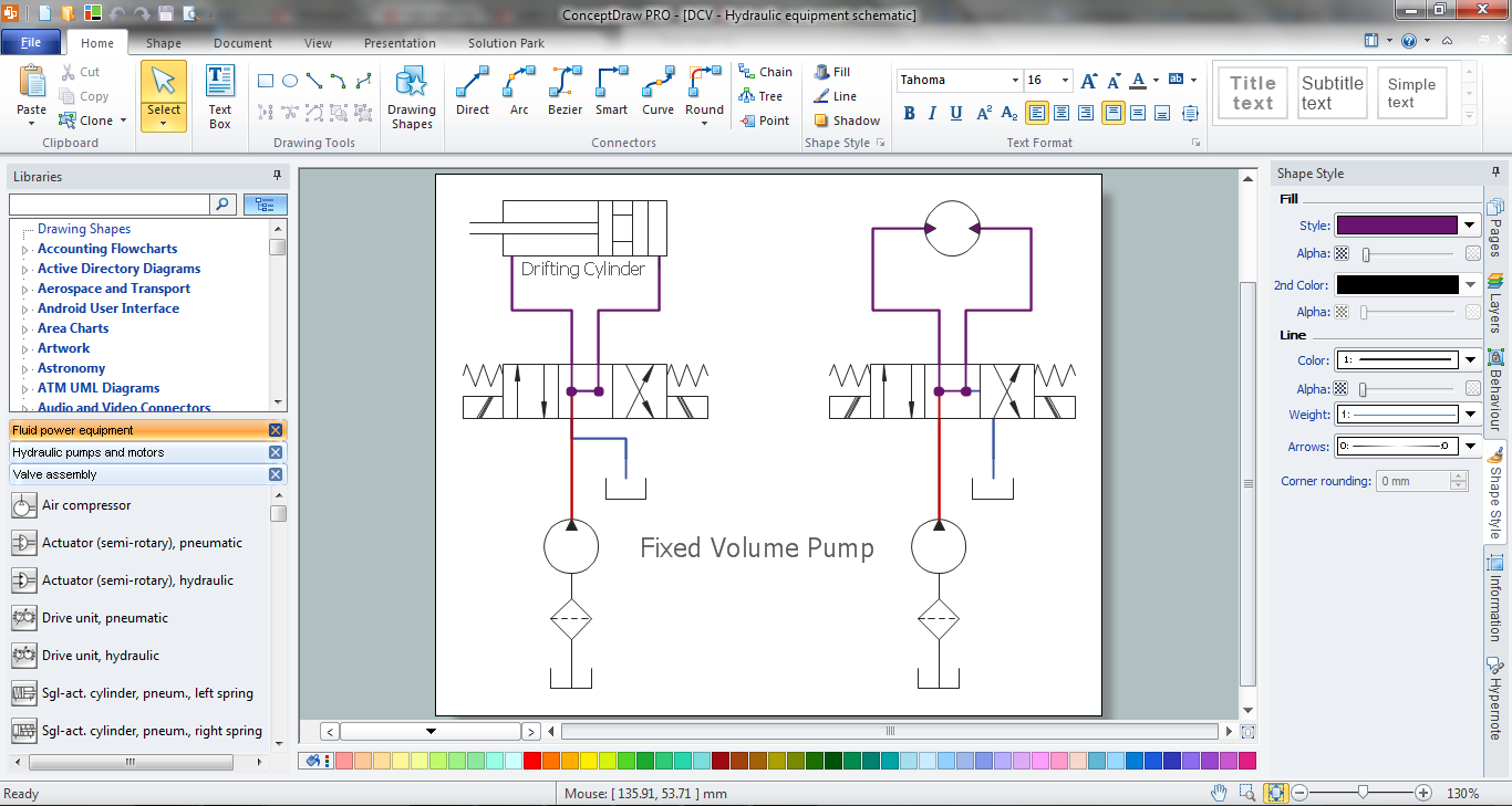 Flow Diagram Software How To Create A Mechanical Diagram