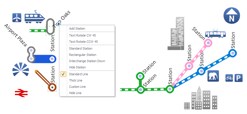 ConceptDraw inforgraphic software subway style design elements sample metro map solution