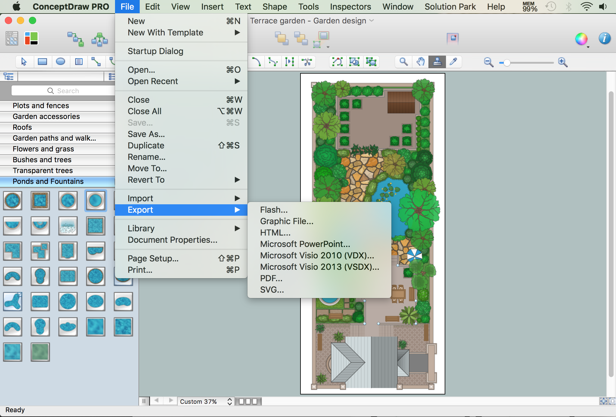 Exporting Landscape Design Plan