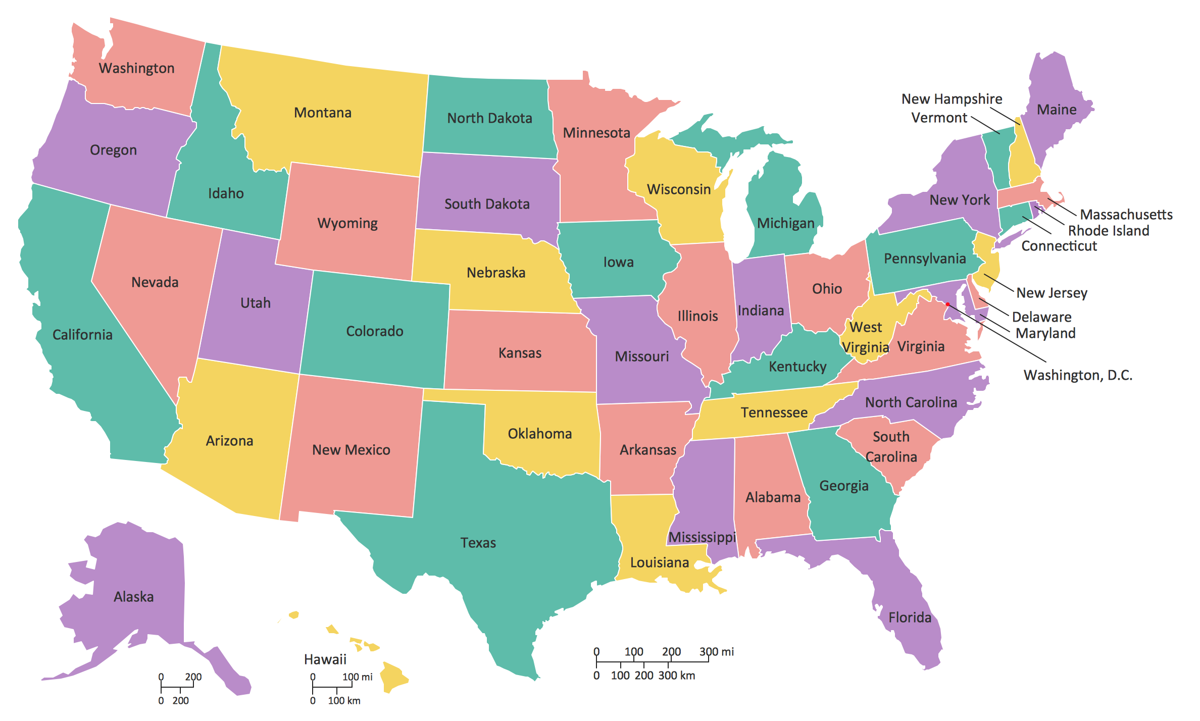 The Map Of America States.Geo Map United States Of America Map