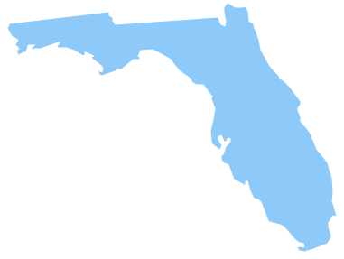Geo Map Usa Florida United States Of America Vector Stencils