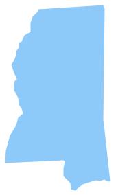 Geo Map - USA - Mississippi