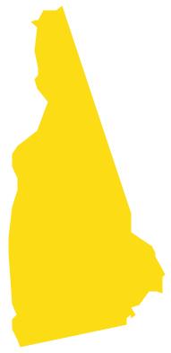 Geo Map - USA - New Hampshire