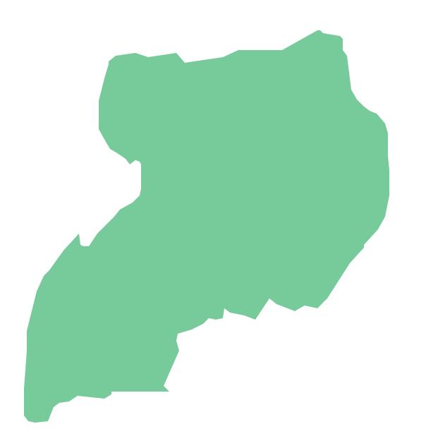 Geo Map Africa Uganda