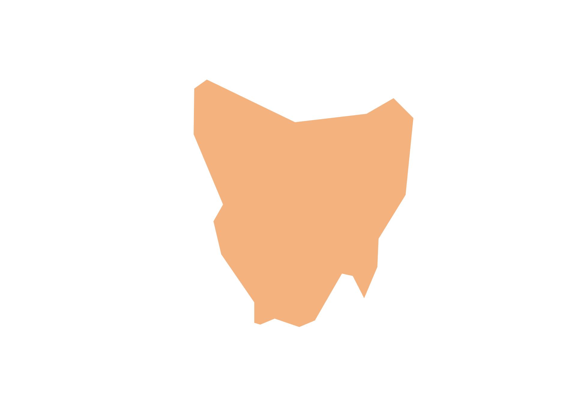 Geo Map - Australia - Tasmania