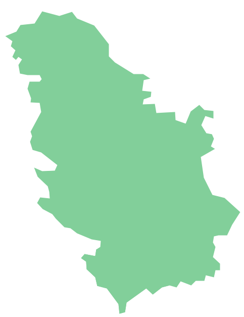 Geo Map - Europe - Serbia