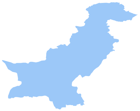 Geo Map - Asia - Pakistan