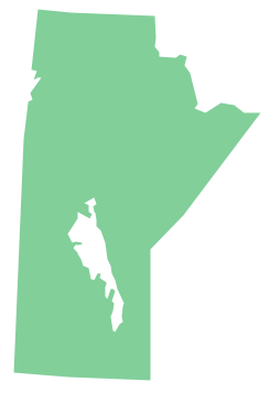 Geo Map - Canada - Manitoba