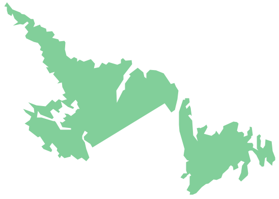 Geo Map - Canada - Newfoundland and Labrador
