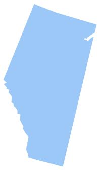 Geo Map - Canada - Alberta