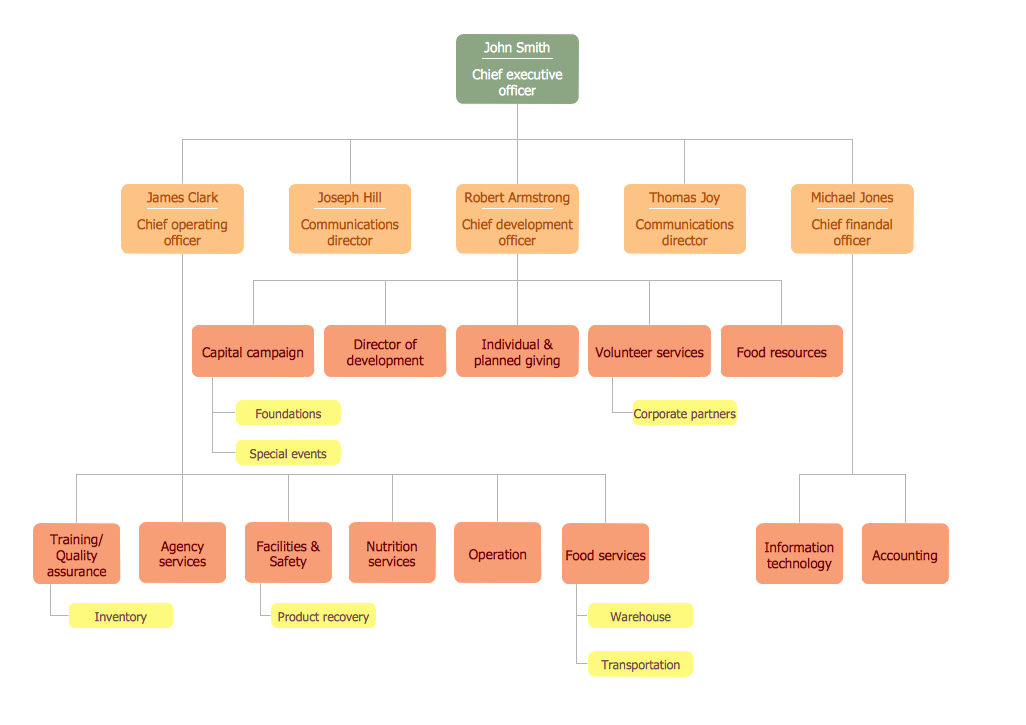 company organigram sample