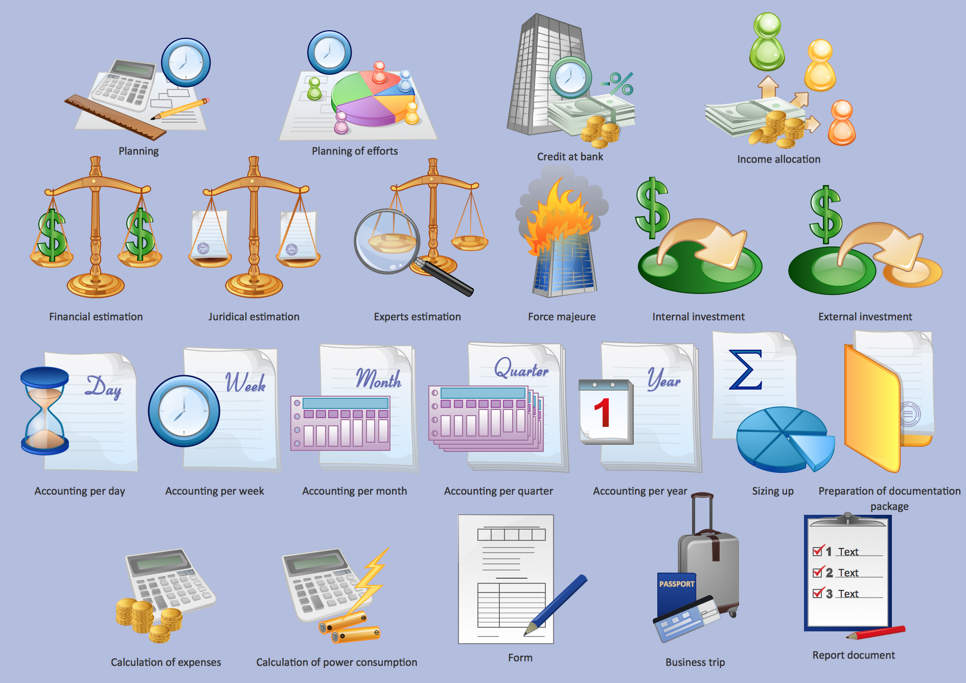 Management design element,  Management clipart