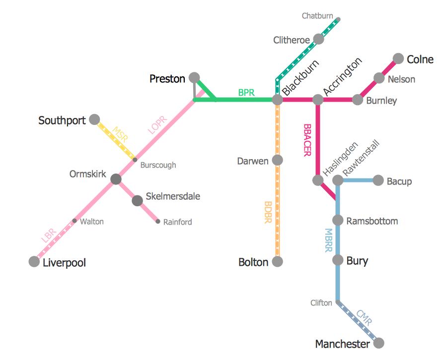 Metro Train Map