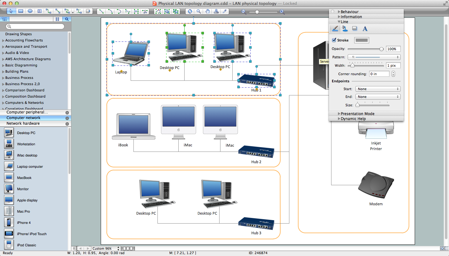 Network Diagram Software for Mac OS X and Windows