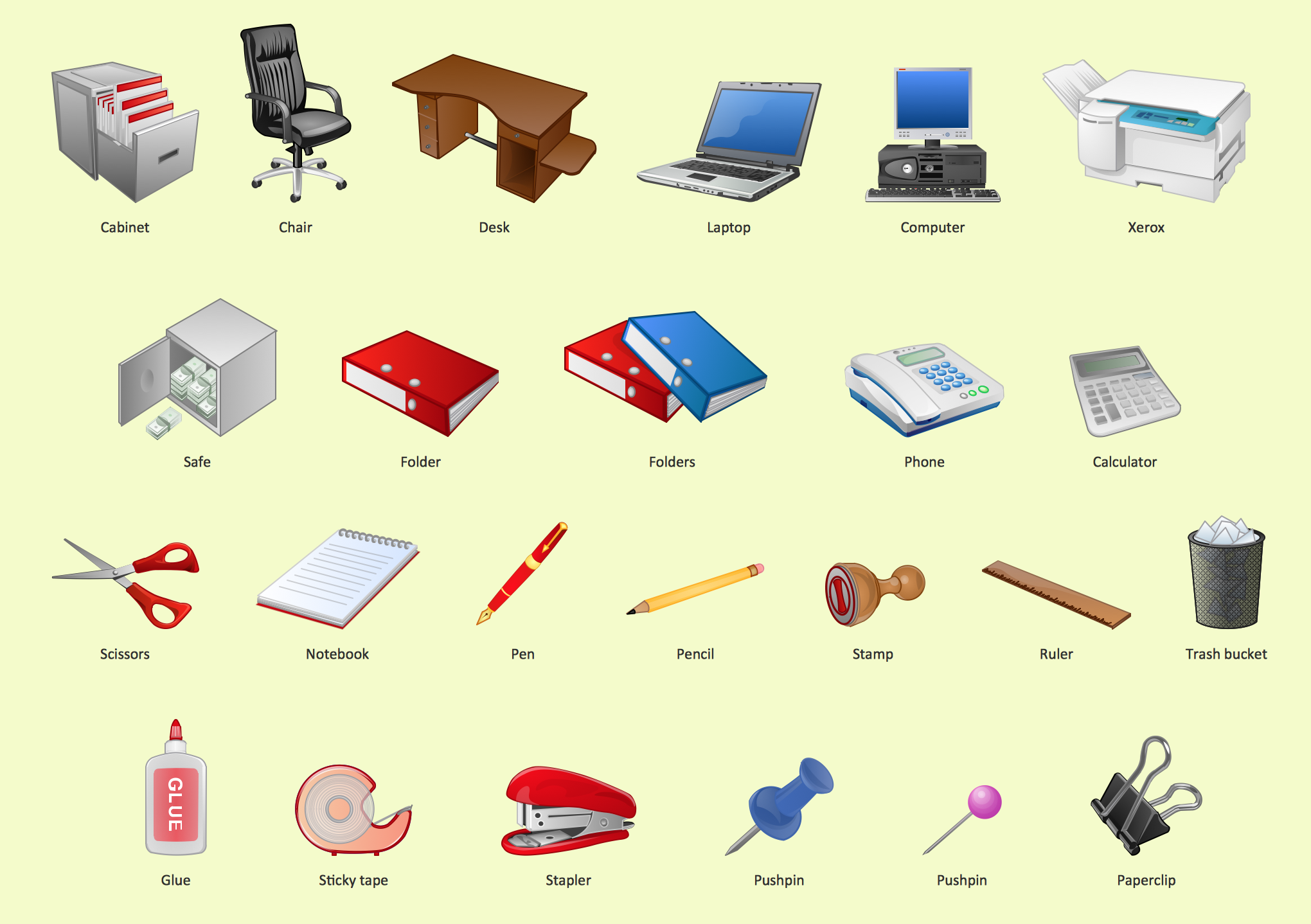 Office design element,  Office clipart