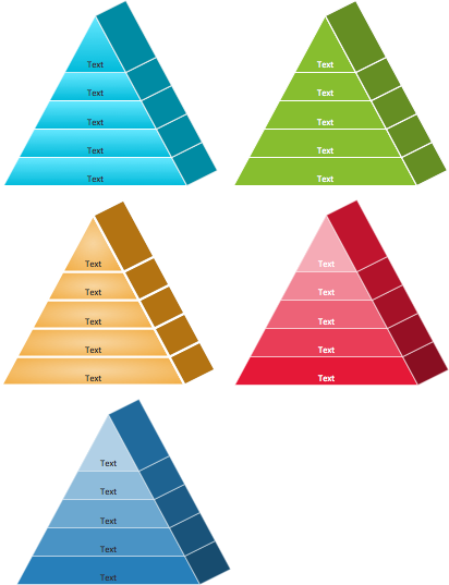 Pyramid diagram isometric shapes