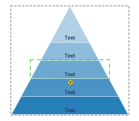 Pyramid diagram object selection