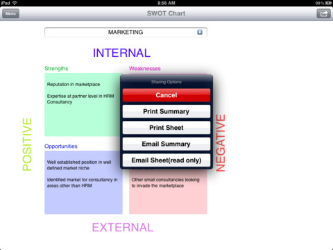 swot ipad app sample