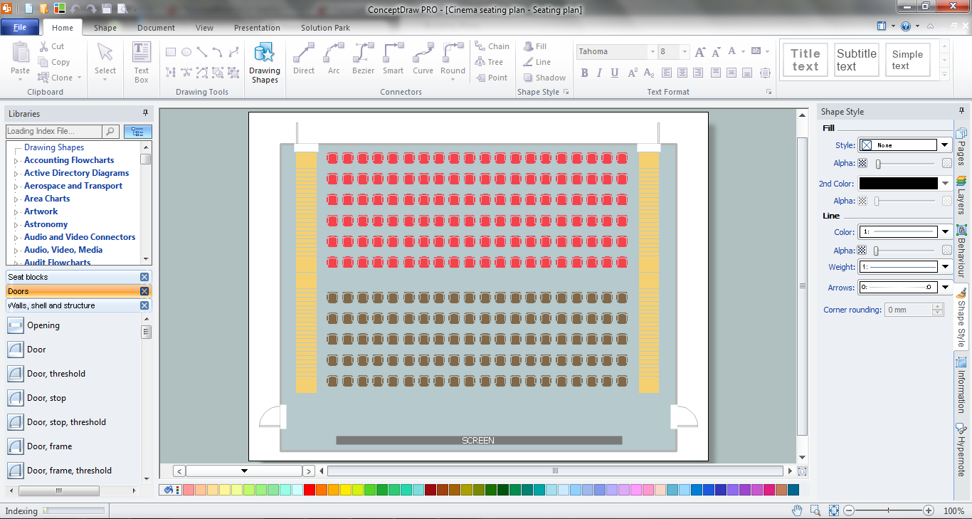 Seating Plan In ConceptDraw