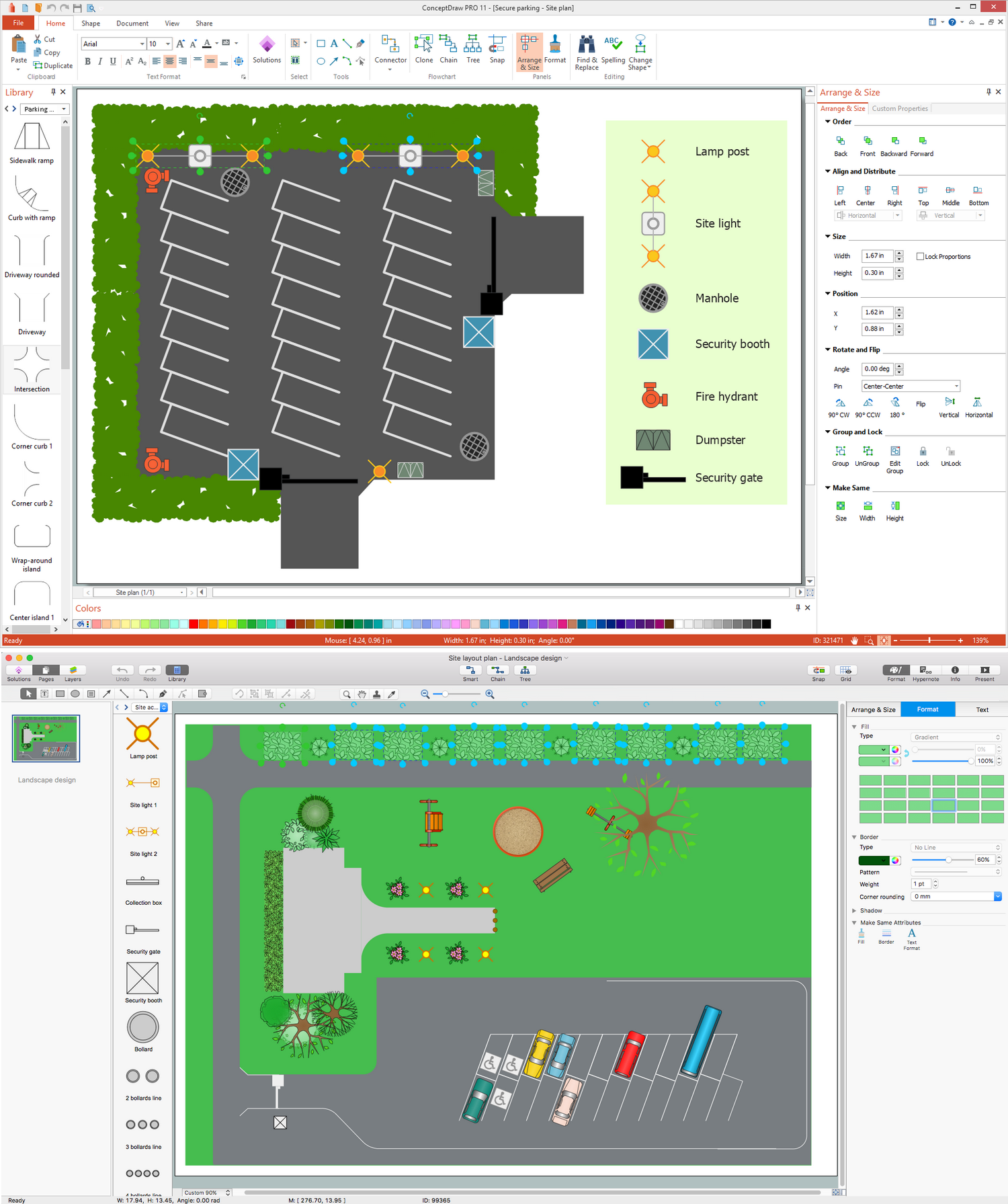Site plan software for Site plan drawing online