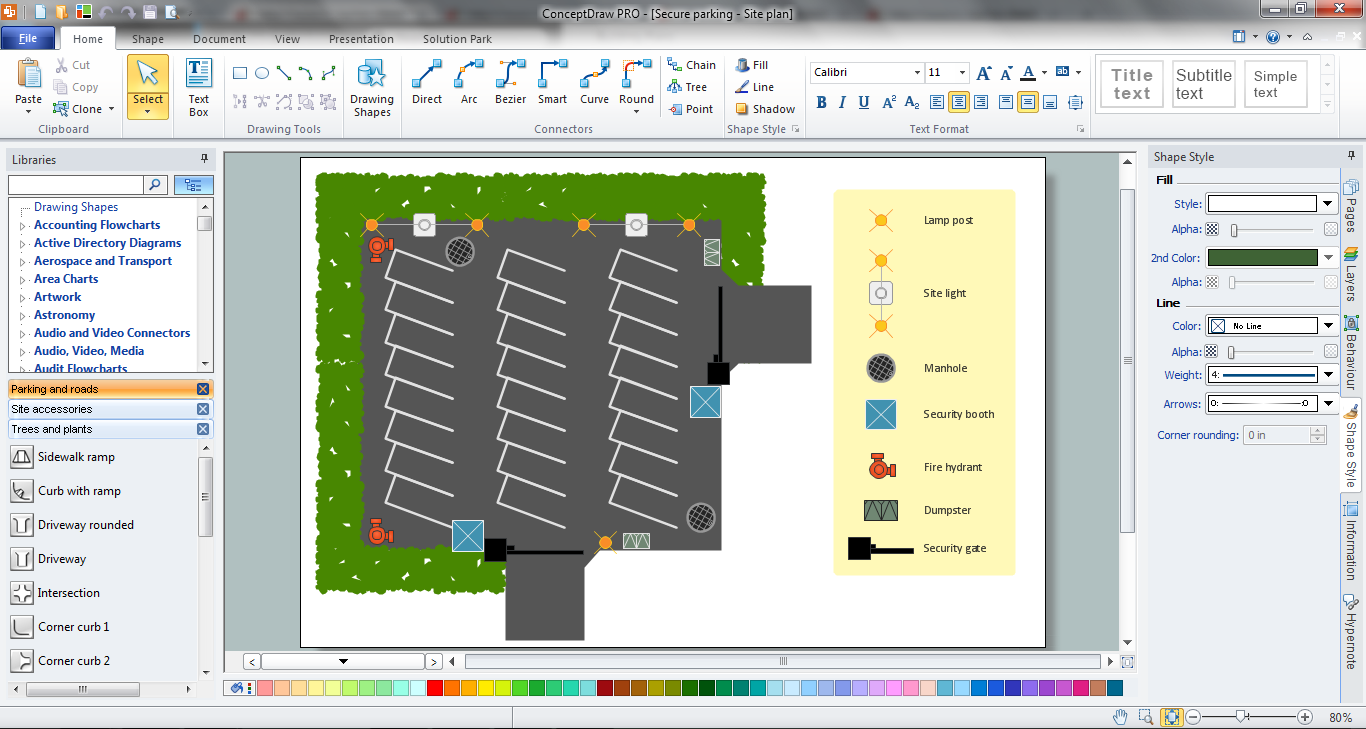 Building plan software create great looking building plan for Layout drawing software free