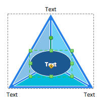 Triangular diagram object selection
