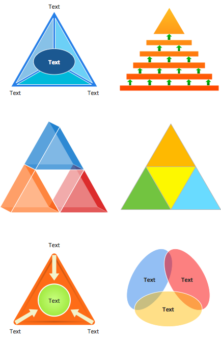 Triangular diagram shapes
