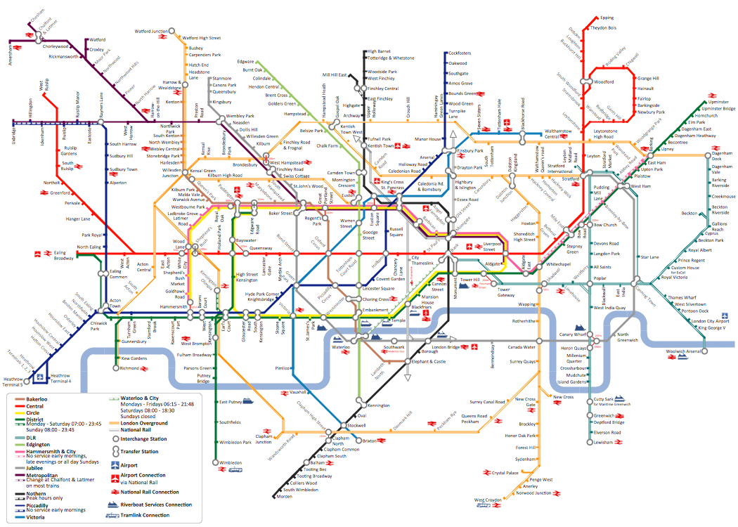 A Subway Map Is A Good Example Of A.Metro Map