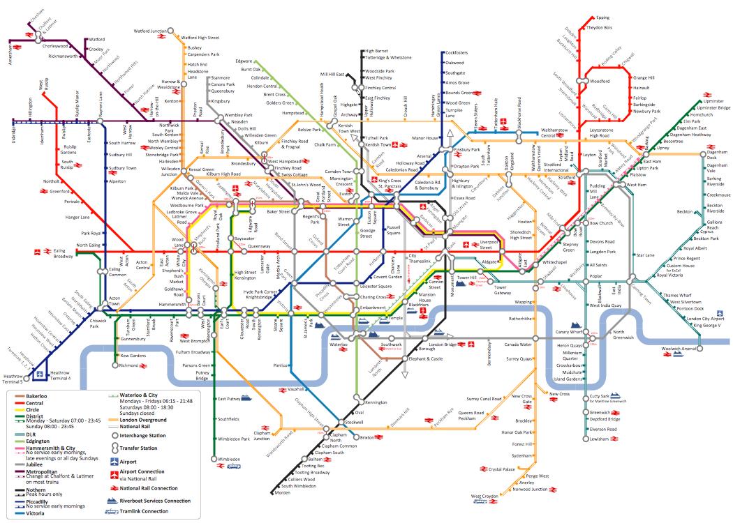 Metro Map - Tube Map of London