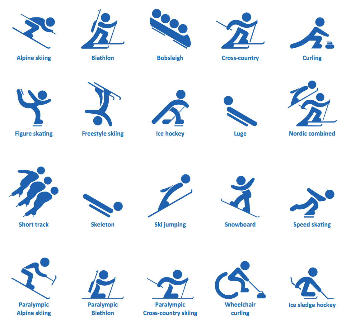 Winter Sports - Design elements