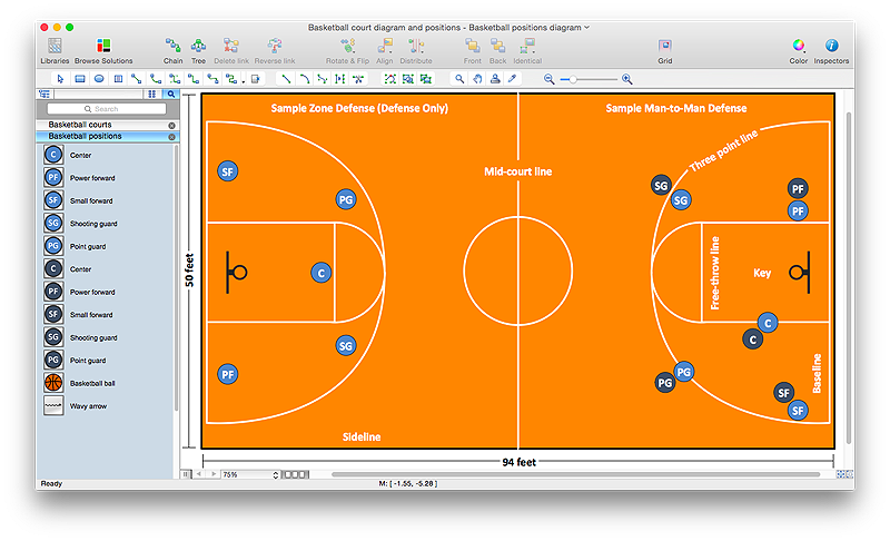 how to make basketball diagram