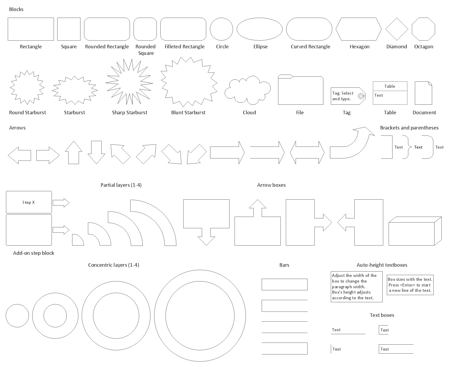 Block Diagrams Library Design Elements