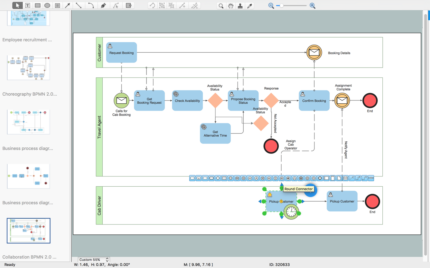 Business Process Modeling Diagram - Collaboration BPMN2.0