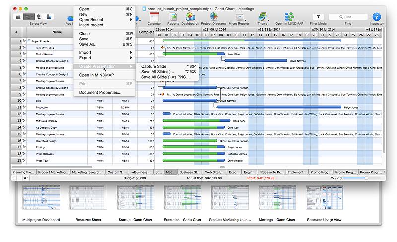 create project plan slide presentation on Mac