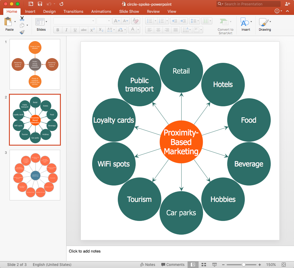 Circle-Spoke Diagram PowerPoint