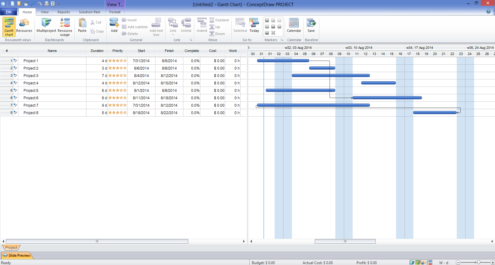 ConceptDraw PROJECT Software