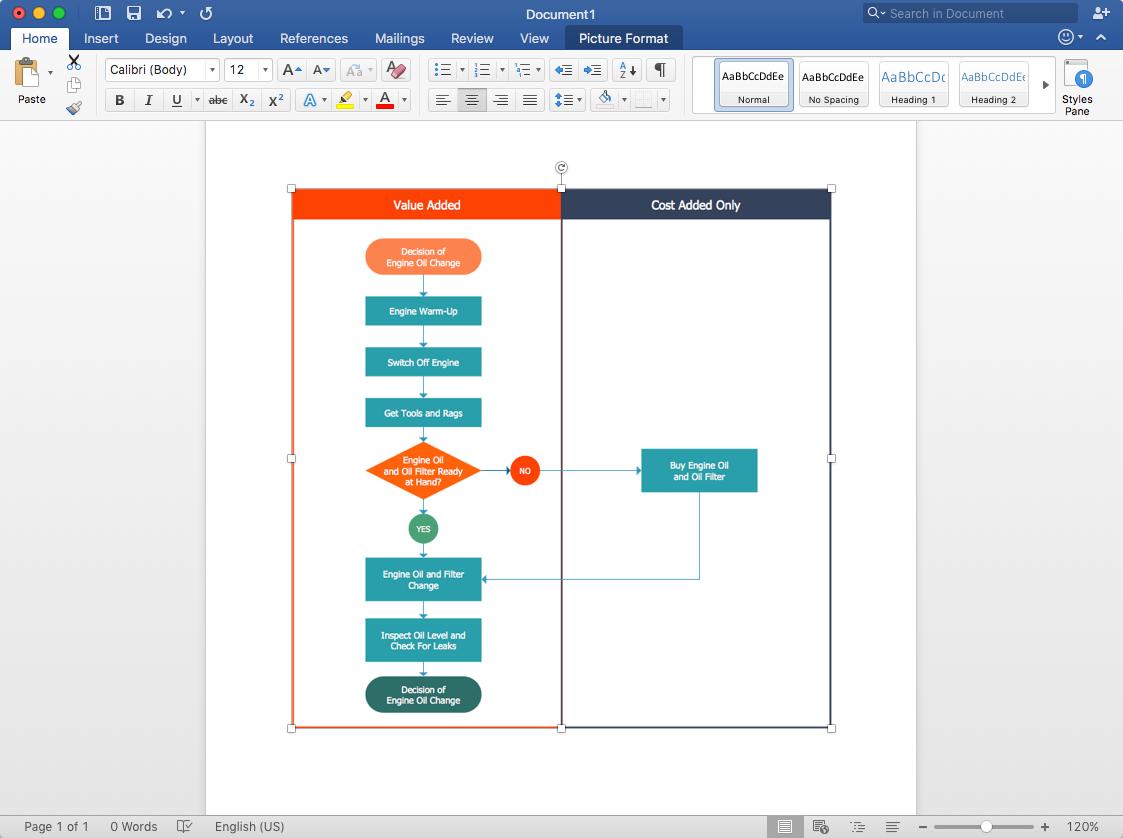 add-Cross-Functional flowchart -to-word