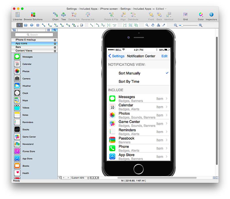 iPhone App GUI