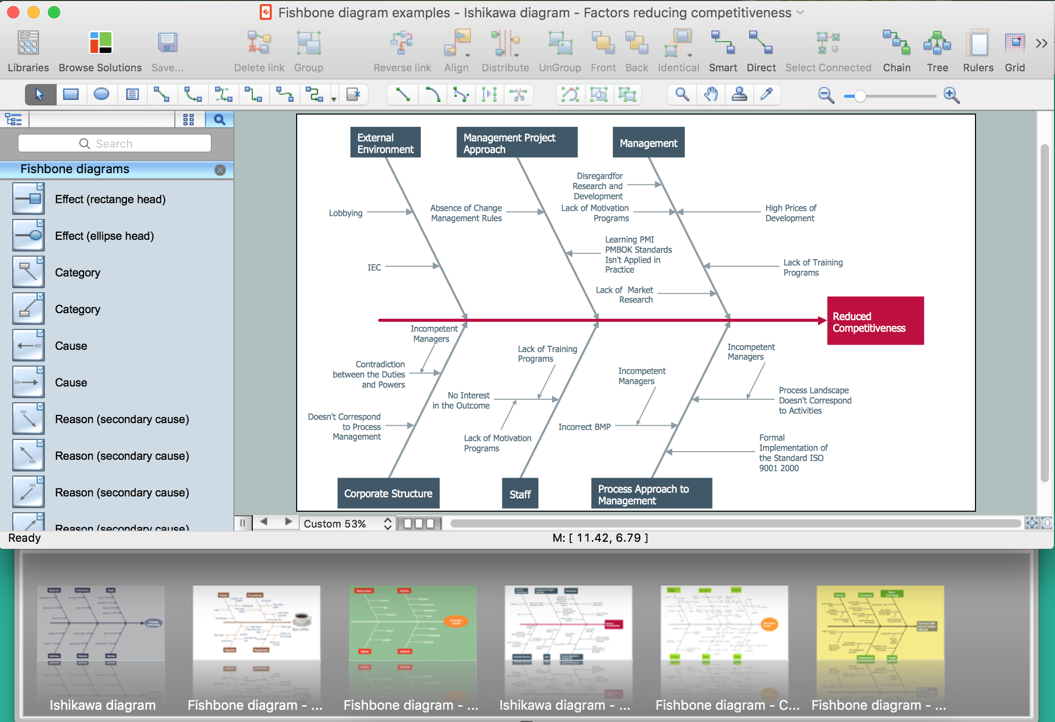 Fishbone Diagram Construction with ConceptDraw DIAGRAM v12  title=