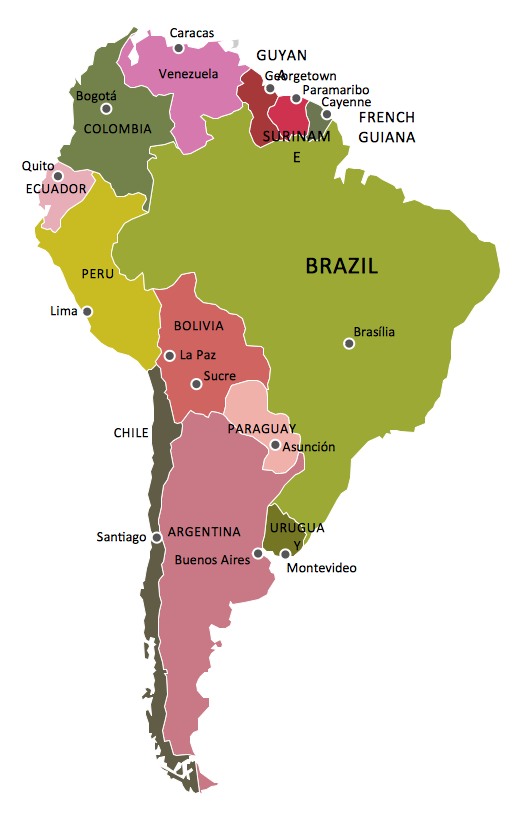 Geo Map - South America