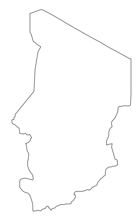 Geo Map - Africa - Chad Contour