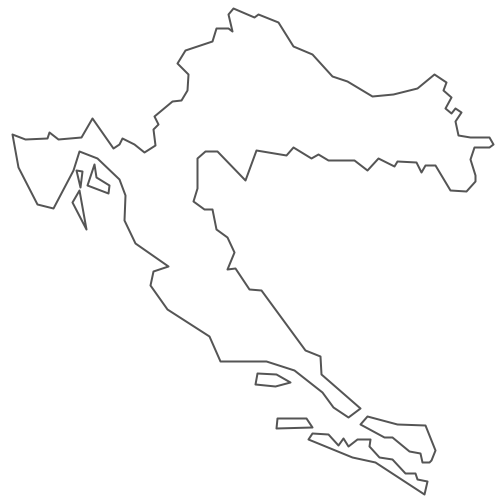 Geo Map - Europe - Croatia Contour