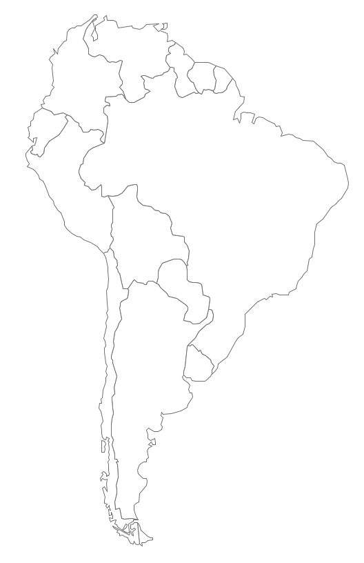 Geo Map South America Continent contour